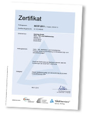 SCC-Zertifikat 2022